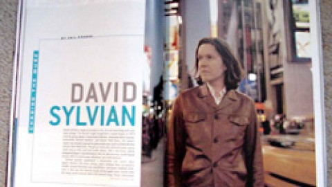 David Sylvian feature in Guitar Player magazine
