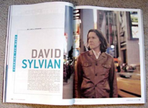 David Sylvian feature in Guitar Player magazine
