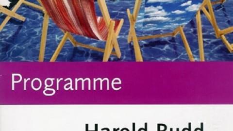 Programme Harold Budd, Brighton Festival