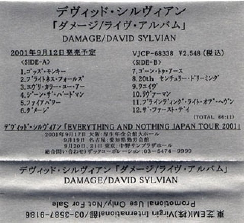 Damage re-issue (Japanese tape)