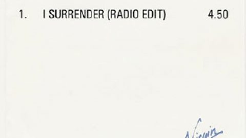 I Surrender (advanced, UK)
