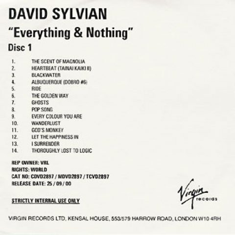 Everything And Nothing (UK advanced)