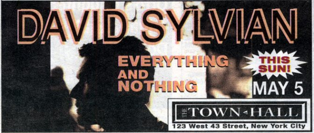 Ad for May 5th 2002 tour