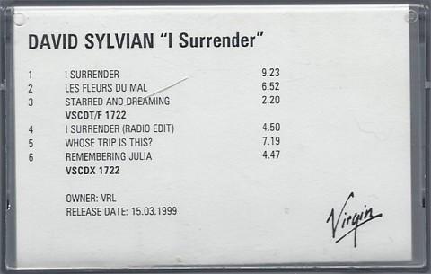 I Surrender (UK advanced tape)
