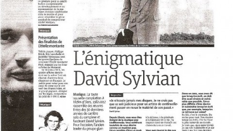 L'énigmatique David Sylvian (May 2012)