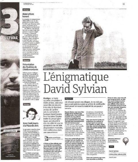 L'énigmatique David Sylvian (May 2012)