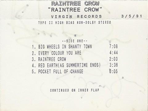 Rain Tree Crow (promo cassette)