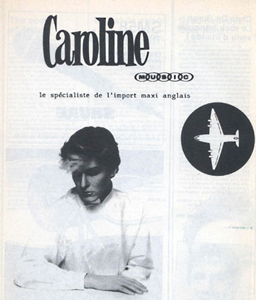 Caroline Belgian freemag RTT, january 1983 used to advertise a local record shop in Brussels