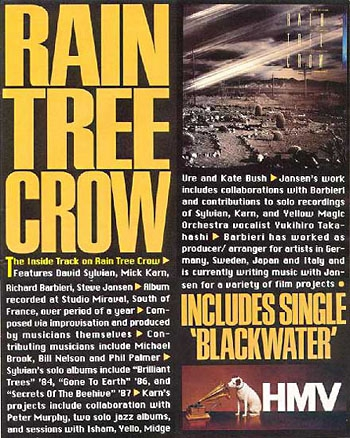 Rain Tree Crow in Vox magazine incl one page interview with David Sylvian