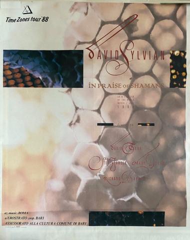 TimeZones 1988 IPOS tour poster