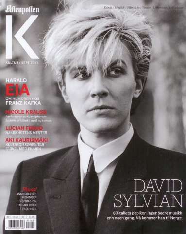 Glossy culture magazine of Norwegian newspaper Afterposten. Features article on carrier of David Sylvian as support of David's visit at Punkt Festival in Kristiansand. Edition September 2011. Picked up this magazine on the airport of Kristiansand, Norway during the Punkt Festival 2011.