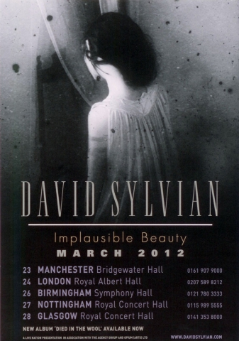 Implausible Beauty UK flyer. Flyer as published in the UK featuring the dates for Scotland and the UK.  Many thanks to Jeremy Cole!