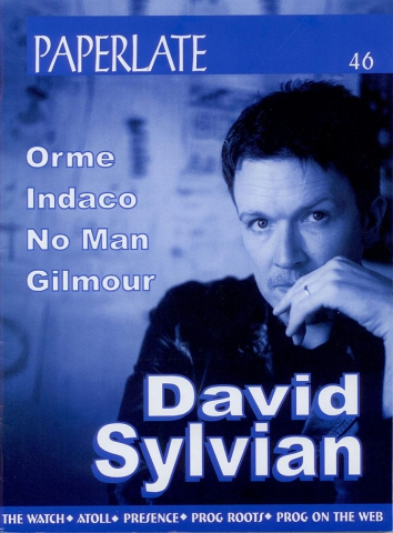 Paperlate November 2001. 6-page artivcle on David Sylvian in this Italian magazine published November 2001