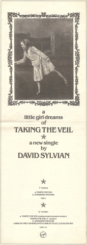 Ad in NME 2nd August 1986 for Taking The Veil