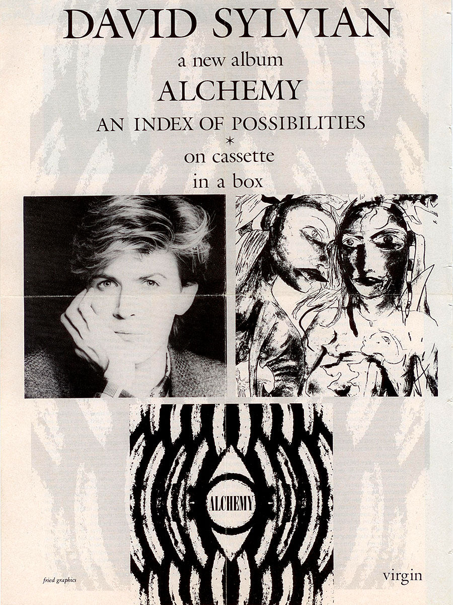 ad for the Alchemy cassette in Vinyl