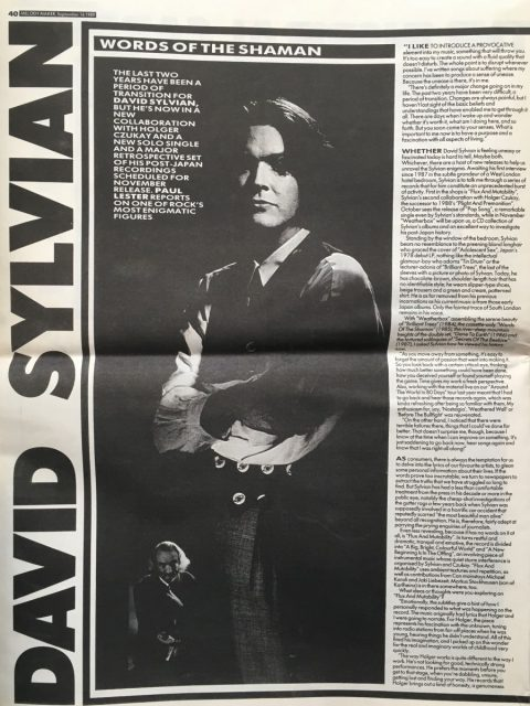 Words of the Shaman (Melody Maker, September 1989)