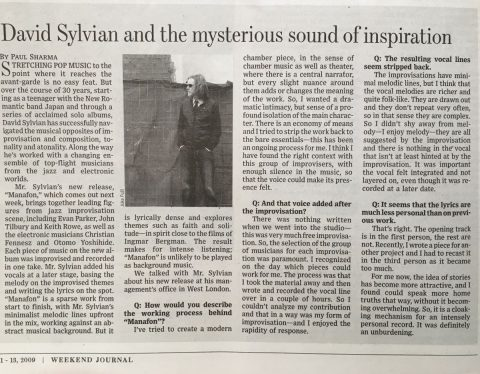 The mysterious sound of inspiration (Wall Street Journal, September 2009)
